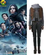 Rogue One A Star Wars Story Jyn Erso Cosplay Costume Women Outfit Custom Made