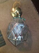 Old Vintage Geodesic Pendant Lamp Hanging Ceiling Light Fixture Candle Bulb Door