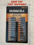 New Duracell Coppertop Alkaline Pack Of 48 Aa Batteries - Gold Best Deal Fast
