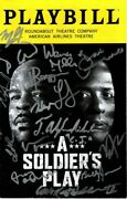 A Soldier's Play Signed Cast Playbill W/ Hologram Coa