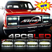 4pcs 4x6 Led Cree Headlights With Drl Replacement For H4656 H4651 H6545 H4652