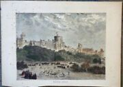Rare Antique Print Windsor Castle From The Graphic Royal Wedding Number 1871