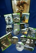 5 Xbox 360halo 3 And Reach,dead Space,cofd World At War,w/mans,call Of Duty Ghost