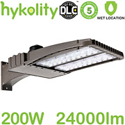 Hykolity 200w Led Parking Lot Light With Photocell, 26000lm Commercial Led Area