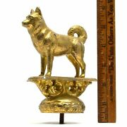 Vintage Brass Dog Finial/ornament By Gladys Brown For Dodge Mfg. Co Nj 1950-1