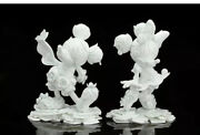 James Jean 90th Anniversary Mickey And Minnie Mouse Statues New