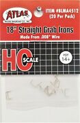 Ho Scale Atlas Blma 4512 18 Straight Grab Irons .008 Formed Wire Pkg 20