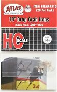 Ho Scale Atlas Blma 4510 18 Drop Grab Irons .008 Formed Wire Pkg 20