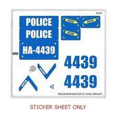 Lego 4439 - Town City Police - Heavy-duty Helicopter - Sticker Sheet
