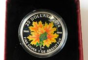 2014 Canada 20 38mm Pure Silver Coin- Glow In The Dark-maple Leaves