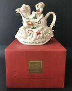 Lenox For The Holidays Elf And Rocking Horse Teapot Santa's Holiday Toy Shop