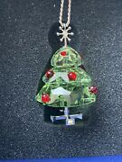 Christmas Tree Crystal Pendant Necklace Jewelry Gift
