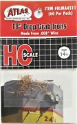 Ho Scale Atlas Blma 4511 18 Drop Grab Irons .008 Formed Wire Pkg 60