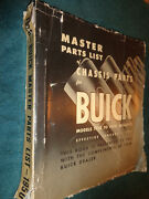 1928-1950 Buick Chassis Parts Catalog / Orig Parts Book 48 47 46 42 41 40 39 38+