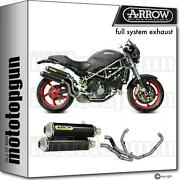 Arrow Racing Nocat Full Exhaust Round-sil Carbon Ducati Monster S4r Ts 06/07