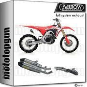 Arrow Racing Nocat Full Exhaust Ti Thu Titanium Evo C Honda Crf 450 R 17/18