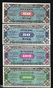 Germany 1/2 1 5 10 20 50 100 1000 Marks 1944 Mpc Military Payment War Ii 8 Note