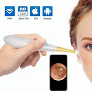 Ear Otoscope 6 Led Camera Inspection Earwax Tools Compatible For Ios Android Pc