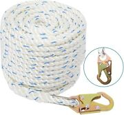5/8and039and039 200ft Fall Protection Vertical Lifeline Rope With Back Splice And Snap Hook