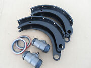Wwii Dodge Wc 1/2ton G505 4x4 New Front Axle Brake 11shoes Cylinders Seals Set