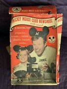 Mattel Mickey Mouse Club Newsreel With Box 1950and039s Walt Disney