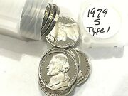 Roll 1979 S Type 1 Jefferson Nickels Gem Dcam Proof From Proof Sets 40 Coins