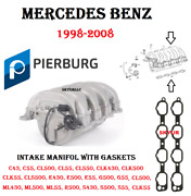 Mercedes Intake Manifold Assembly And Gaskets C Cl Clk Cls E G Ml S Sl 1998-08 Oem