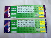 Unused Bob Dylan / Tom Petty 1986 Concert Ticket Pair Madison Square Garden Nyc