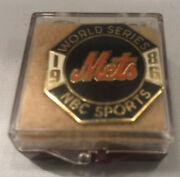 1986 New York Mets World Series Press Pin For Nbc Sports By Balfour Vintage