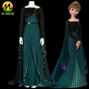 Frozen 2 Anna Cosplay Costrume Queen Anna Dress With Cloak For Adult Halloween