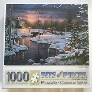"""Bits And Pieces, Holy Night, 1000 Piece Jigsaw Puzzle, 20"""" X 27"""", New-sealed"""