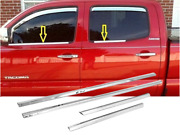 Stainless Steel Chrome Window Sill Trims For 2005-2015 Toyota Tacoma Double Cab