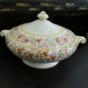 Vintage Crown Ducal Ware English China Malvern Covered Vegetable Bowl 1940's