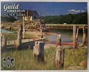 New England Dock Fishing Boats Jigsaw Puzzle, Golden Guild, 1000 Pieces, Vintage