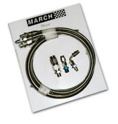 March Performance S/s Braided Power Steering Hose Kit P/n - P3222