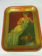 Authentic Coke Coca Cola 1936 Girl Advertising Serving Tray 108-