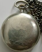 Antique Omega Railway Open Face Menand039s Pocket Watch Swiss