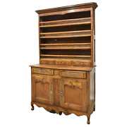 Antique Display Cupboard Vaisselier French Louis Xv Style Fruitwood 1800and039s