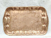 19c Rare Old Islamic Mosque Hand Etching Brass Serving Tray Islam Collectible