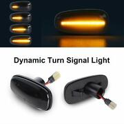 For Opel Astra G Corsa C Amber Led Side Marker Turn Signal Lights Smoked Lens X2