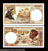 French Pacific Territories 10000 10,000 Francs P4 A 1985 Fish Unc Money Banknote