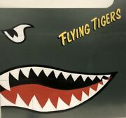 Riveted Aircraft Aluminum Nose Art Panel- Flying Tigers, Wwii Aviation Nap-0134