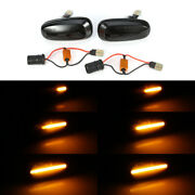 For Opel Astra G Corsa C Amber Smoked Dynamic Led Side Marker Turn Signal Lights