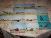 Lot Of 15 Vintage Imperial War Museum Postcards Aircraft Fighter Planes Ww2 Look