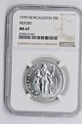 1979 New Caledonia Silver 5 Francs Ngc Ms 67 Piefort Witter Coin