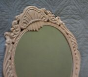 French Farmhouse Shabby Cottage Chic Cast Iron Plateau Dresser Top Vanity Mirror