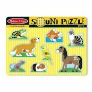 Melissa And Doug Pets Wooden Sound Puzzle New 730