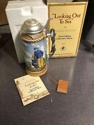 Norman Rockwell's Looking Out To Sea First Edition Collector's Stein 1981 14982
