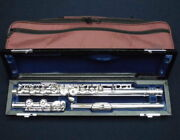 Used muramatsu Flute Ex Model Ring Key With E Mechanism Mint With Case Japan