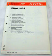 Stihl Hos Spare Parts List Manual Oem Illustrated Pre-owned Free Shipping